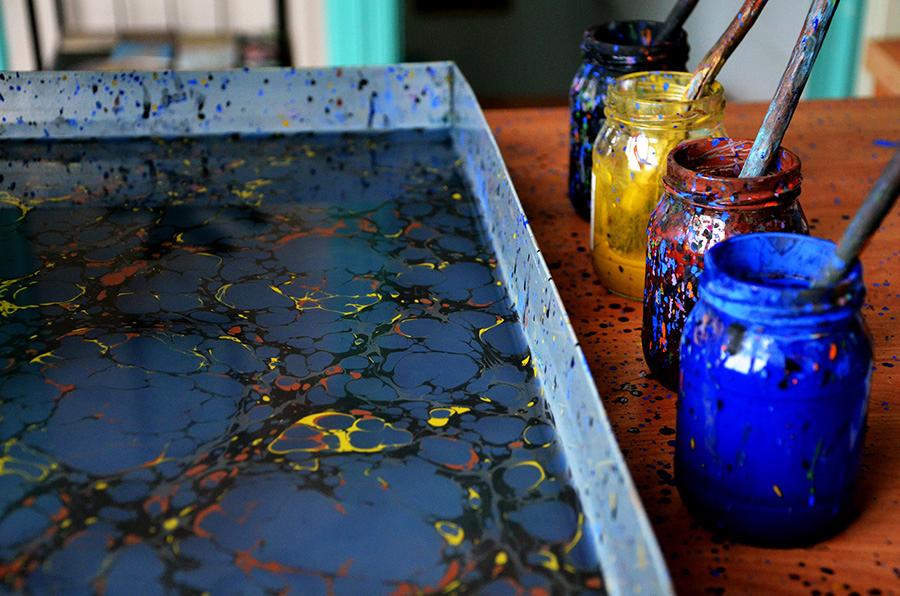 Materials used in Ebru Marbling Art