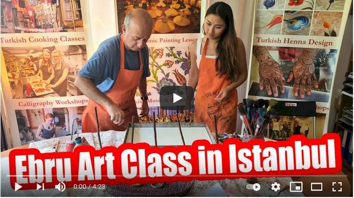 The Turkish Art of Marnling (Ebru) Workshop in Istanbul